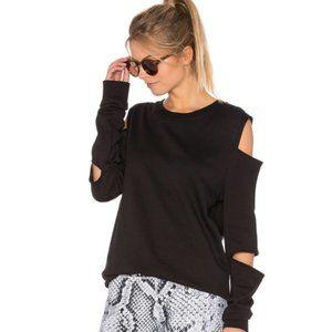 Varley Revolve Del Mar Cutout Black Sweatshirt L